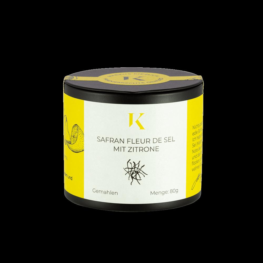 Safran Fäden und feines aromatisches Fleur de Sel aus der Kieslich Gewürze Gewürzmanufaktur
