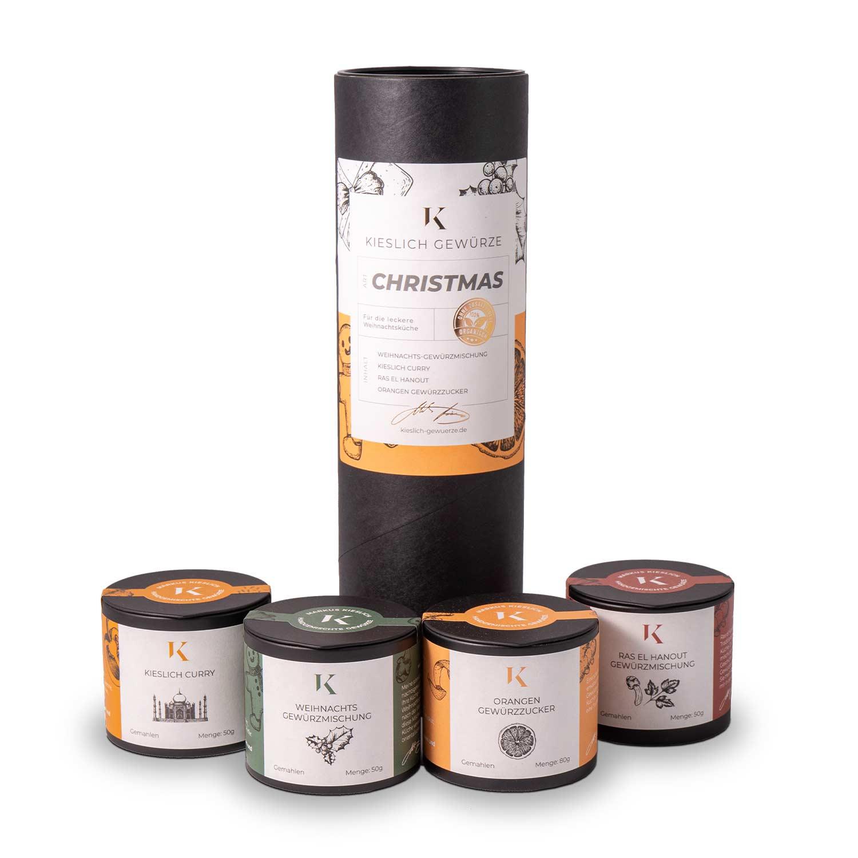 Weihnachts Geschenkbox mit Gewürzen für deine Liebsten