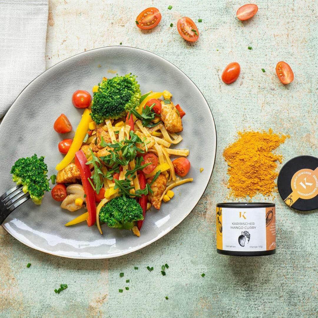 Karibik Feeling im Kieslich Gewürze Karbischer Mango Curry